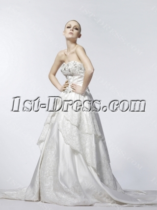 Ivory Classic Gothic Bridal Gown 2013