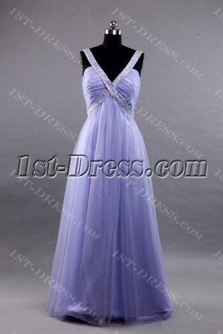 Lavender Plus Size Quinceanera Dress with Open Back