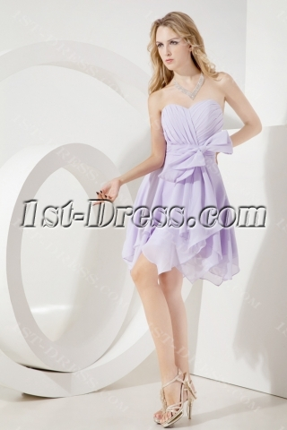 Lavender Romantic Chiffon Junior Prom Dress