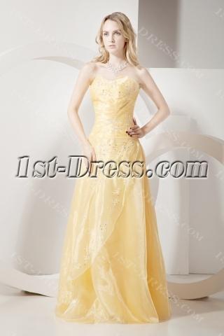 Long Daffodil Quinceanera Dresses Cheap 2012