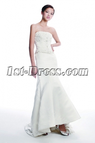 Long Destination Western Bridal Gown