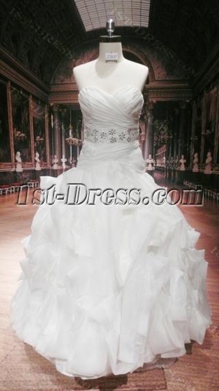 Low Waist Plus Size Elegant Bridal Gown