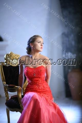 Luxury Beaded Sheath Celebrity Gown