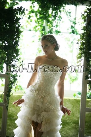Luxury High-low Short Summer Wedding Dresses