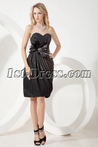 Mystique Column Little Black Cocktail Dresses