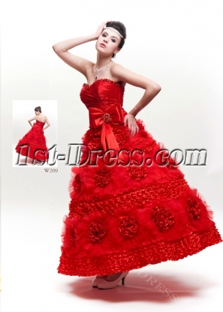 Princess Strapless Sweetheart Organza Quinceanera Dress 3880