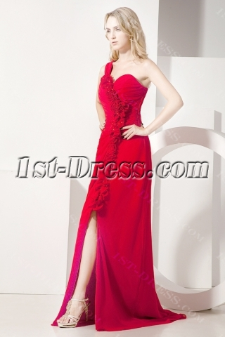 Red Beautiful Homecoming Dress with Split