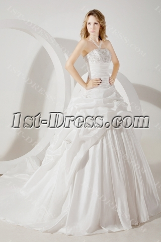 Romantic Strapless Formal Bridal Gown 2013