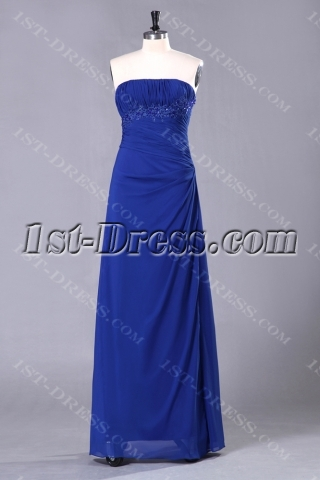 Royal Blue Long Inexpensive Best Bridesmaid Dresses