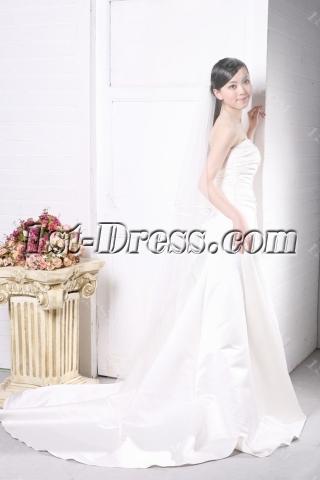 Simple Garden Wedding Dress for Slim Women