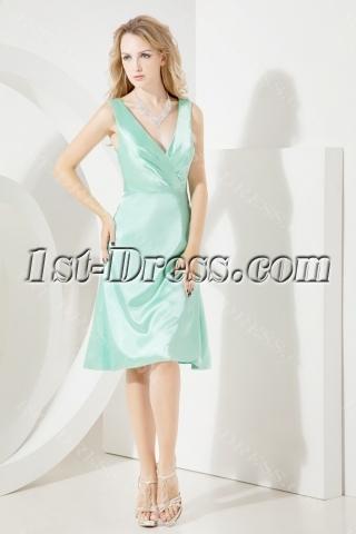 Simple Junior Bridesmaid Dress with Tea Length