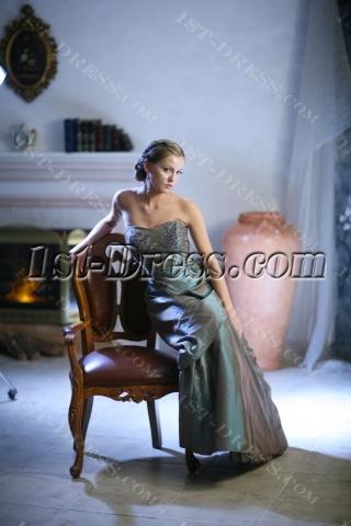 Simple Long Taffeta Plus Size Quinceanera Dresses