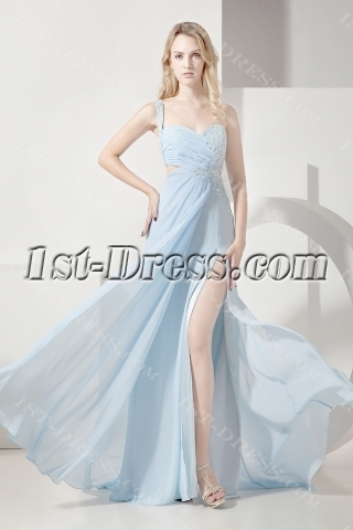Sky Blue Sexy Evening Dress for Summer