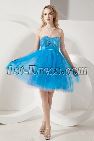 Teal Blue Empire Sweet 16 Dresses for Large Size