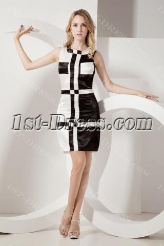 Unique Black and White Little Black Prom Dresses