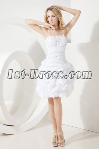White Beautiful Short Quinceanera Gown