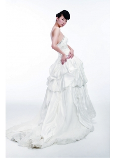 2012 Princess Wedding Dresses with Long Trains