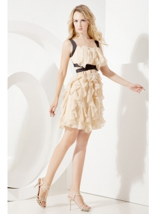 2013 Champagne Short Graduation Dresses for College