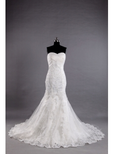 2013 Classic Beaded Lace Sheath Wedding Dresses
