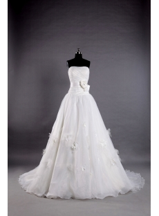 A Line Princess Wedding Dresses with Strapless