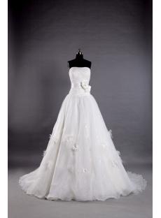 A Line Princess Wedding Dresses with Strapless