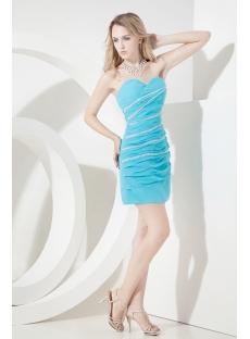 Aqua Mini Homecoming Dresses for Juniors