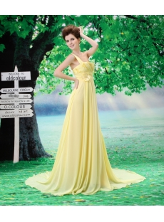 Beautiful A-Line One Shoulder Chiffon Elastic Silk-like Satin Evening Dress