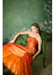 Beautiful Orange Quinceanera Dresses for Plus Size