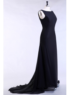 Black Modest Evening Dress Plus Size for Spring