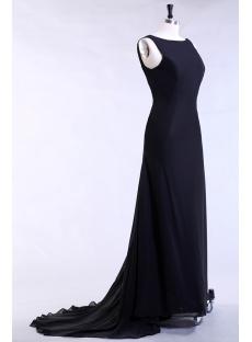 Black Modest Evening Dress Plus Size for Spring