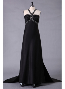 Black Sexy Plus Size Prom Dress with Open Back