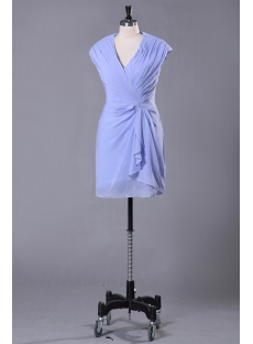 Blue Chiffon Mini Short Mother of the Groom Dresses for Summer