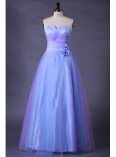 Blue Long Quinceanera Dresses for Plus Size Girls