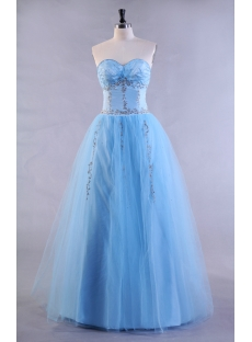 Blue Plus Size Party Dress for Sweet 16
