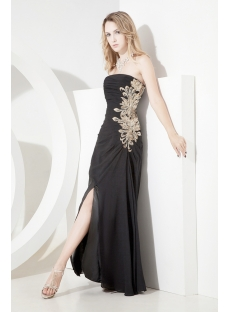 Brilliant Long Little Black Prom Dress 2013