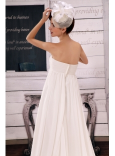 Brilliant Sweetheart Chiffon Pregnant Bridal Dresses With Ruffle