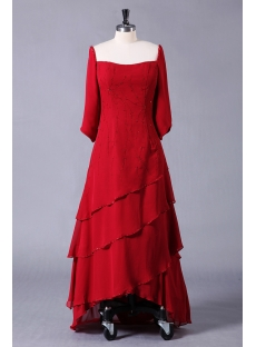 Burgundy Mother of the Bride Plus Size Dresses with Long Sleeves