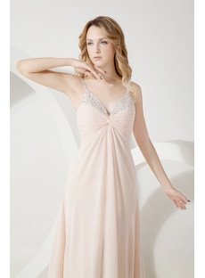 Champagne Chiffon Maternity Bridesmaid Dress