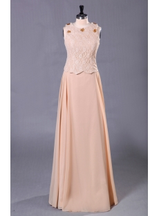 Champagne Long Modest Mother of Groom Dress Discount
