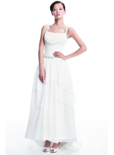 Chiffon Informal Bridal Gown for Plus Size