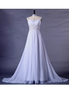 Chiffon Plus Size Wedding Dress for Beach