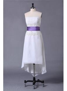 Cute High-low Short Summer Wedding Dress