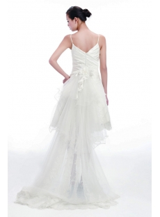Cute Short Bridal Gowns with Detachable Train