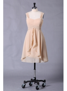 Elegant Champagne Short Graduation Dress for Summer