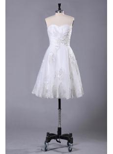 Elegant Lace Short Bridal Gown for Summer