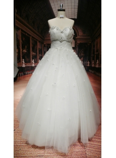 Floor Length Discount Plus Size Wedding Dresses