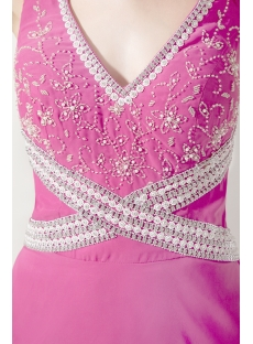 Fuchsia Criss Straps 2013 Evening Gown