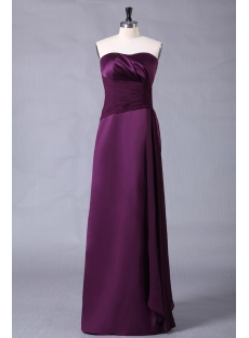 Grape Long Junior Plus Size Dresses