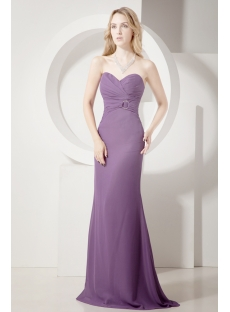 Grape Sheath Long Formal Evening Gown