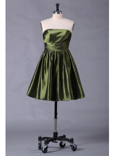 Green Short Cocktail Pub Dress